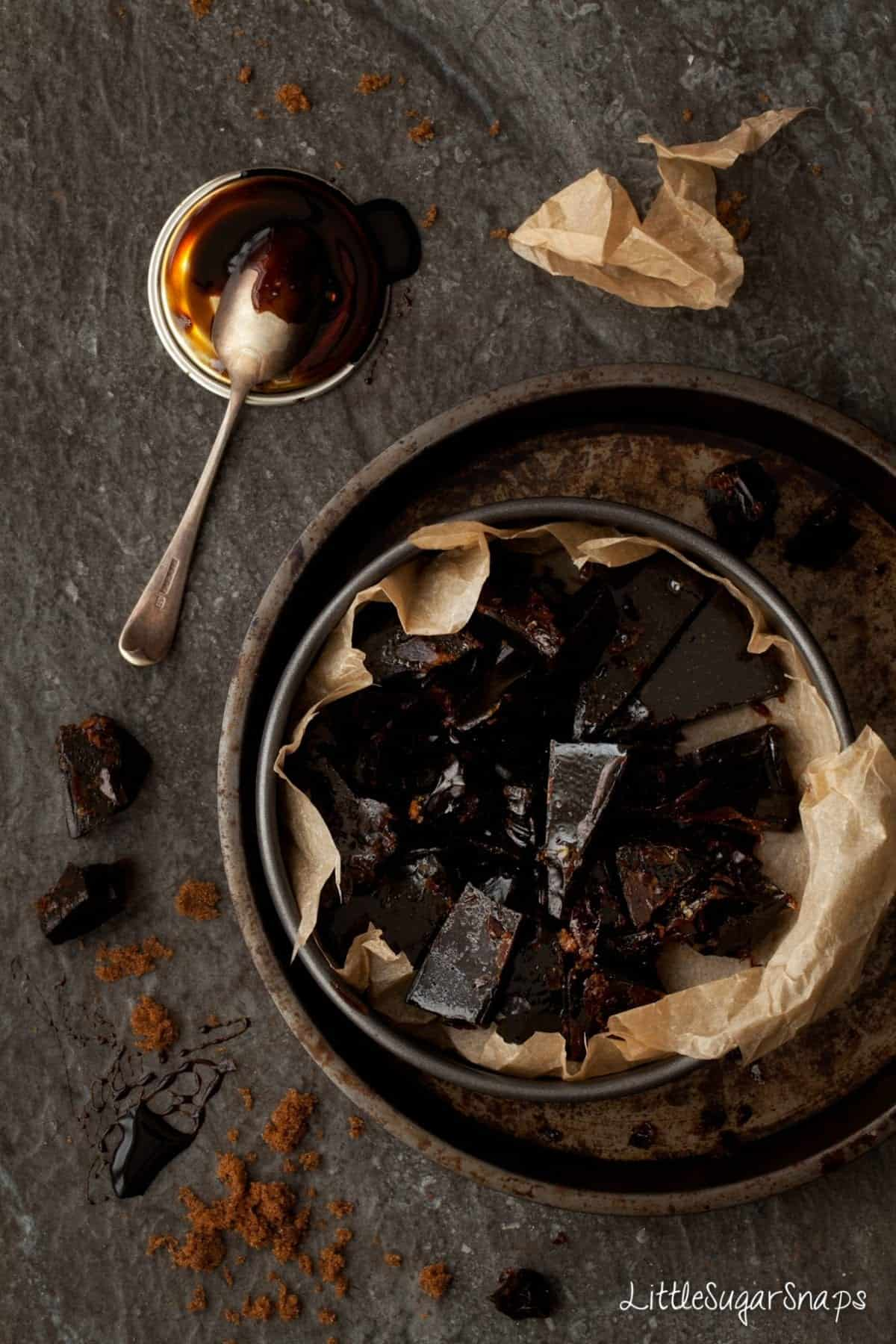 Bonfire Toffee Treacle Toffee broken into chunks