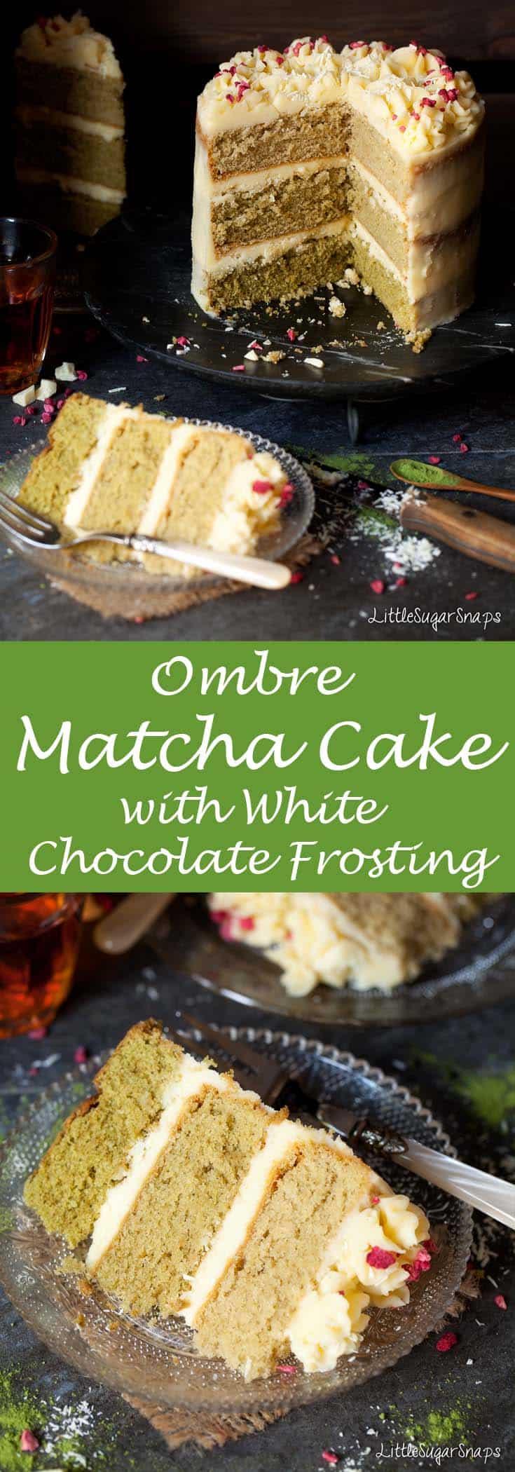 Matcha Cake #matcha #matchacake #ombrecake #matchatea #teacake