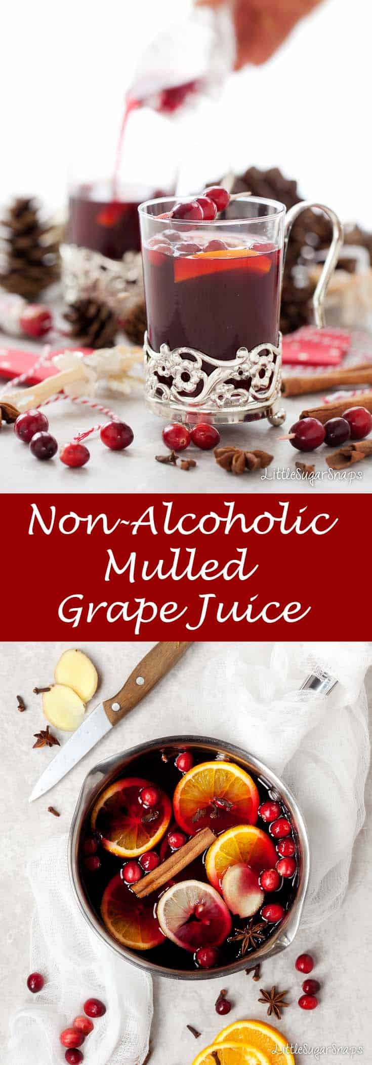 Mulled Grape Juice #virginmulledwine #mulledgrape #mulledjuice #mulled
