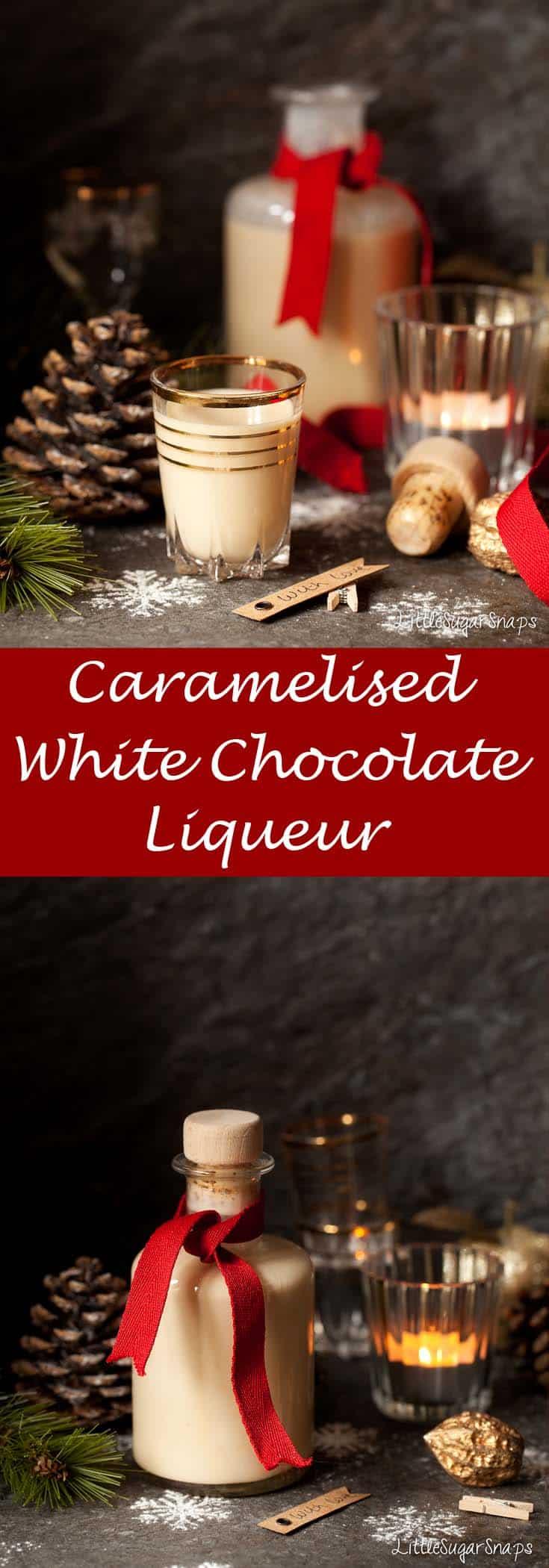 Caramelised White Chocolate Liqueur #ChocolateLiqueur #CaramelisedWhiteChocolate #CaramelizedWhiteChocolate #WhiteChocolateLiqueur