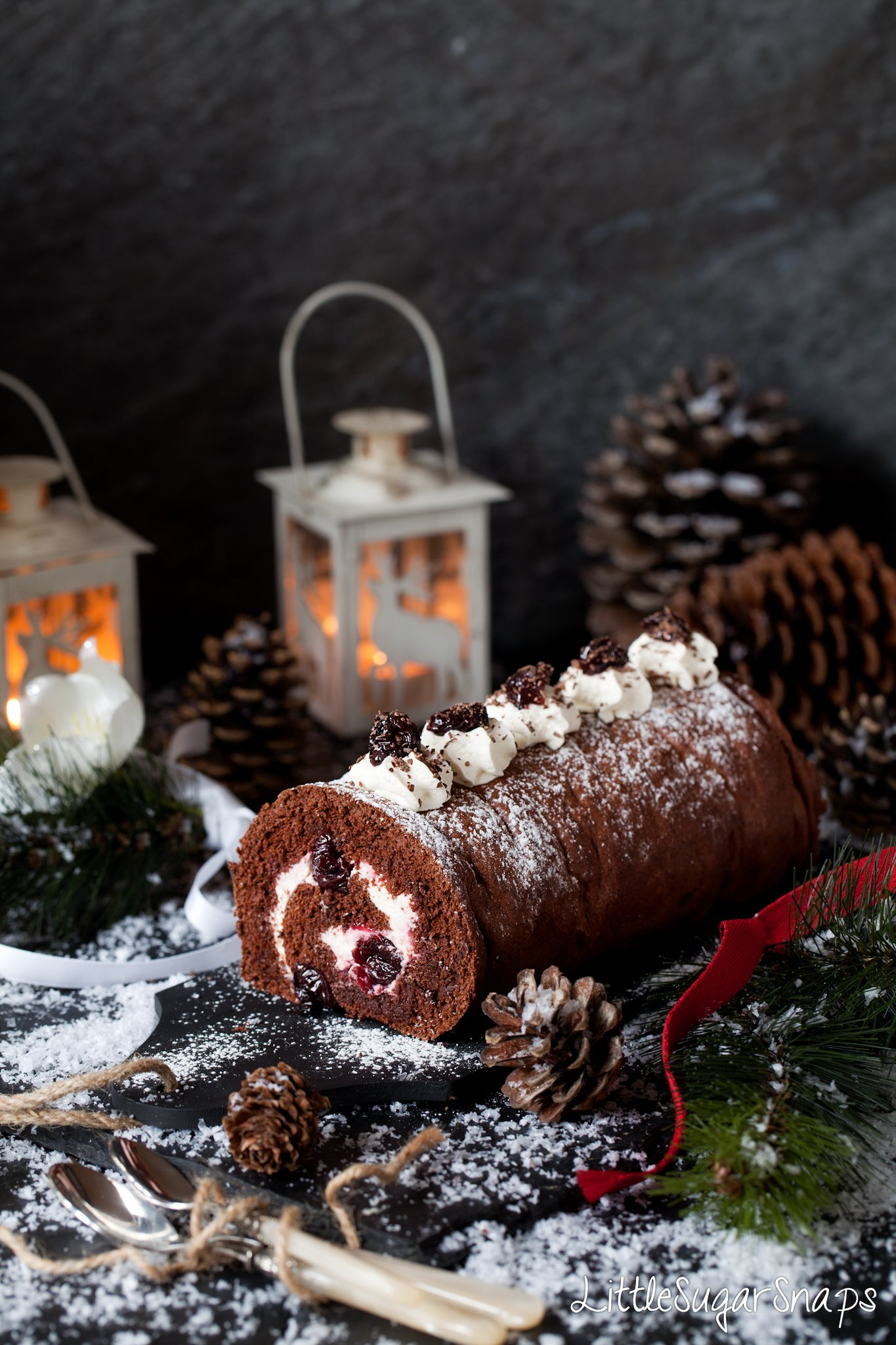 Black Forest Yule Log