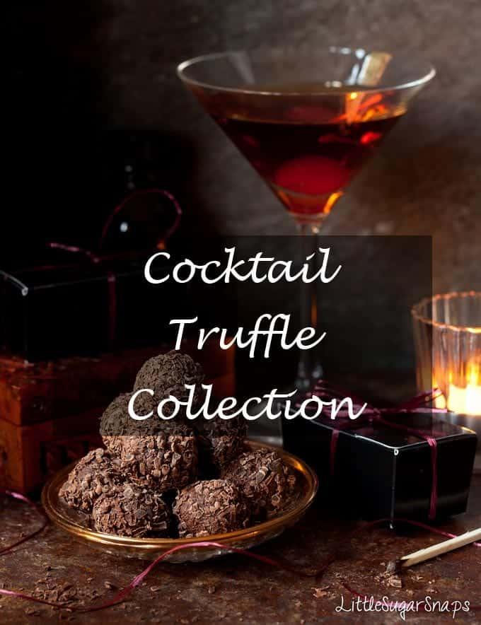 Cocktail Truffles #truffles #chocolate #cocktails
