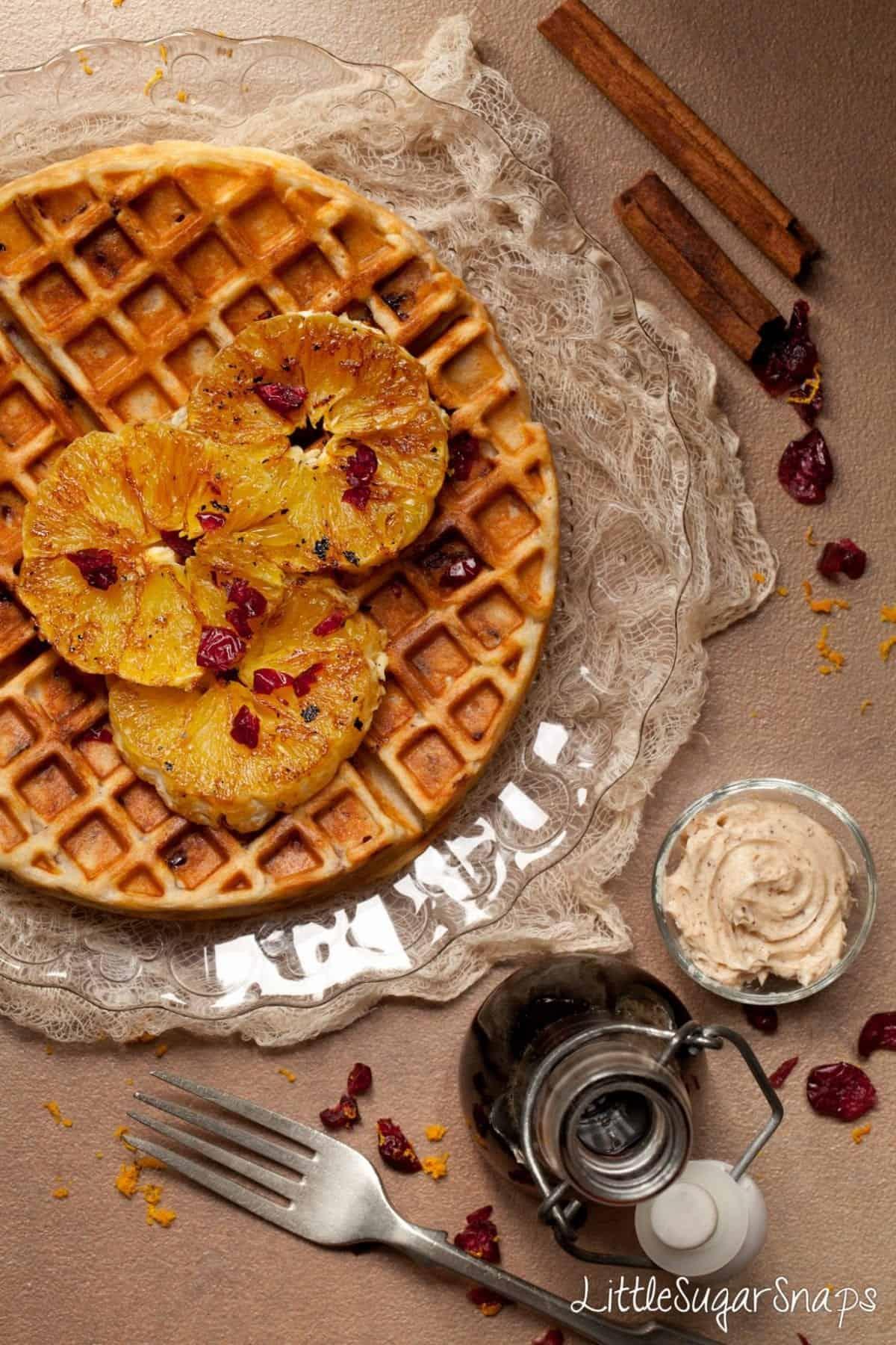 Cranberry Orange Waffles