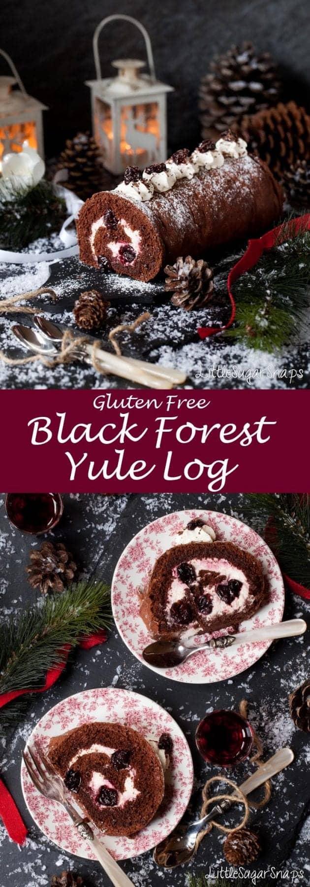 Black Forest Yule Log #blackforest #yulelog #yule #buchedenoel #blackforestgateau
