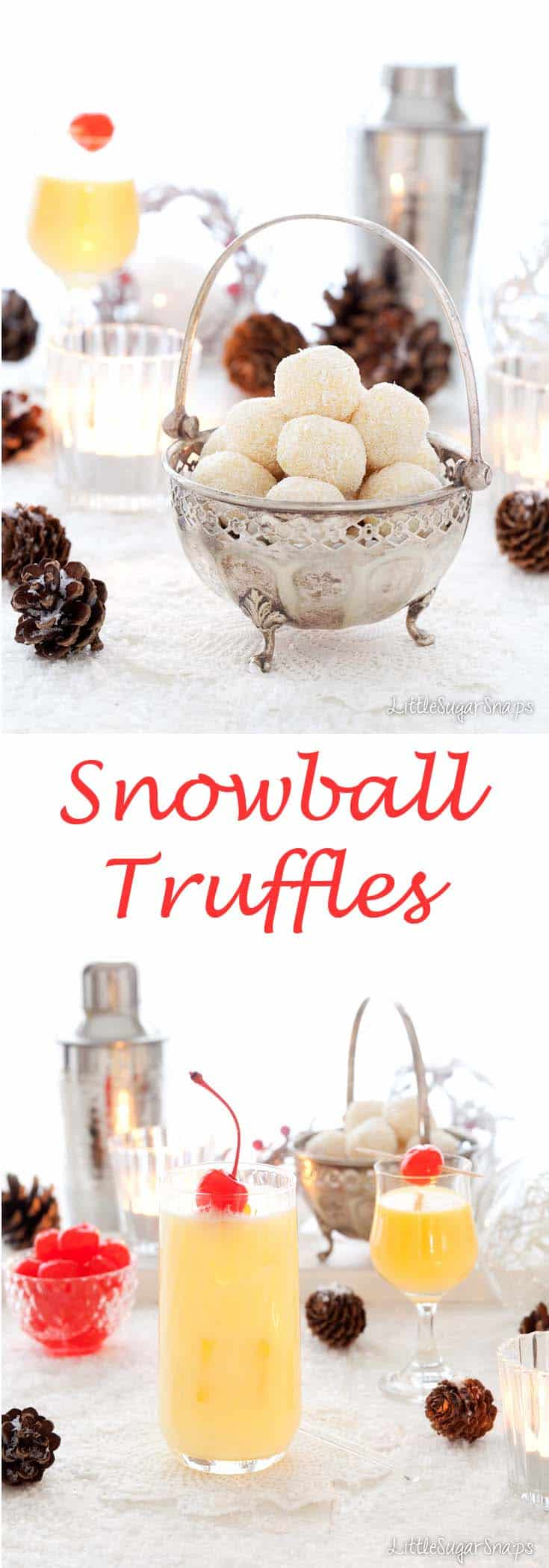 Snowball Truffles #snowball #advocaat #truffles #boozy