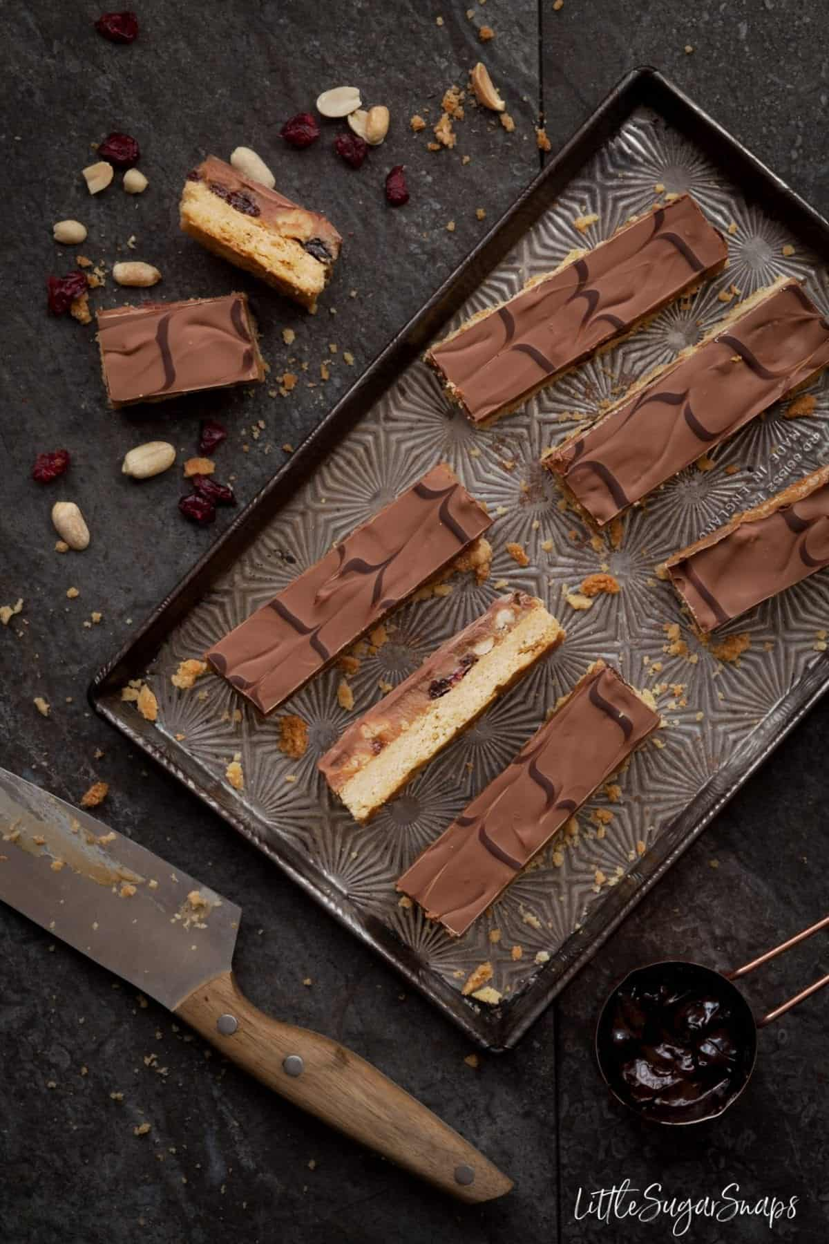 Fruit Nut Caramel Shortbread