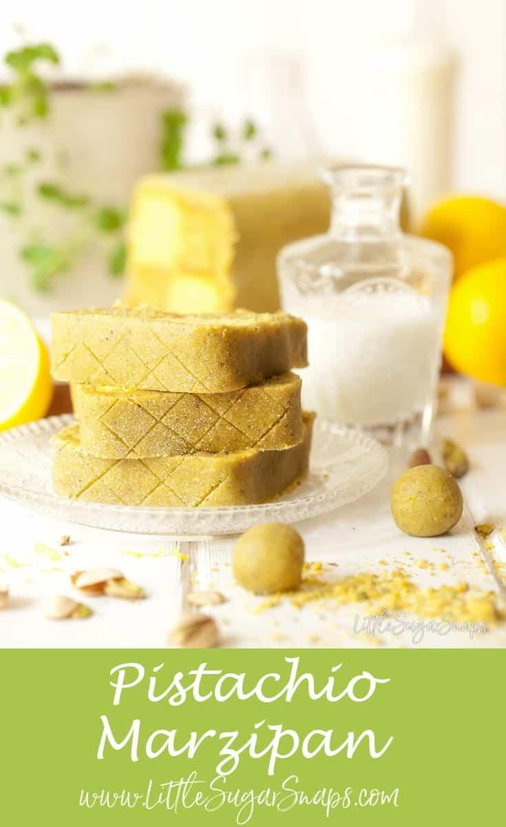 Pistachio Lemon Battenberg Cake #Battenberg #pistachiomarzipan #marzipancake