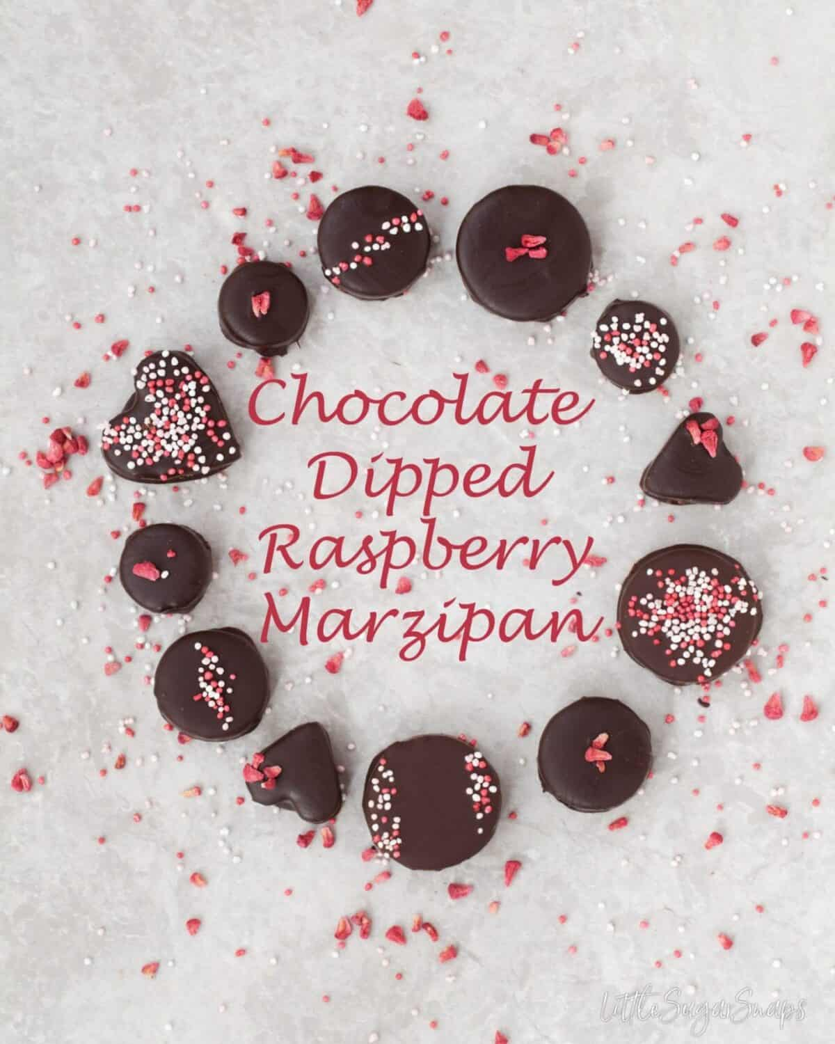 Raspberry Marzipan #marzipan #chocolates