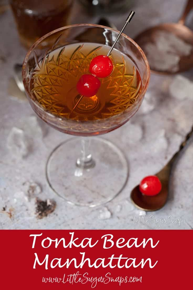 Tonka Bean Manhattan #tonkabean #tonka #manhattan #cocktail