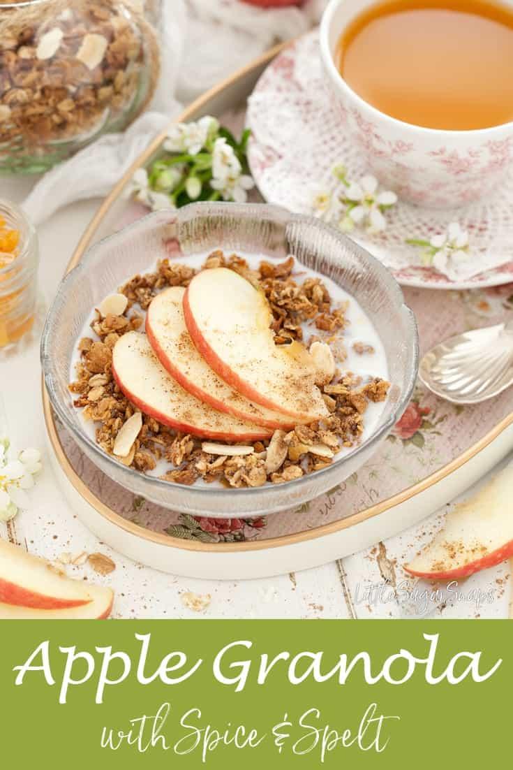 Apple Granola #granola #applegranola #lowsugargranola #healthygranola #applespice