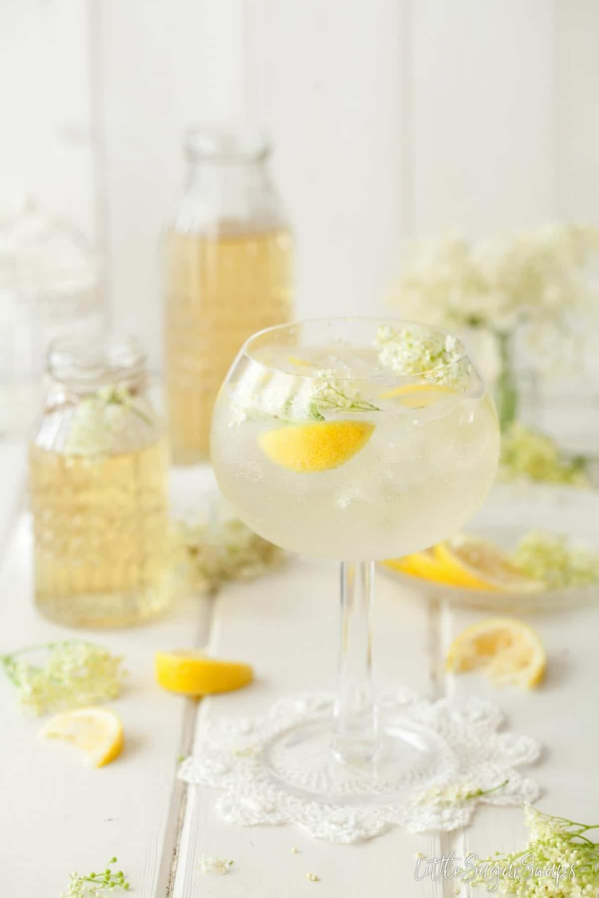 Summer Gin and Tonic with Elderflower & Lemon