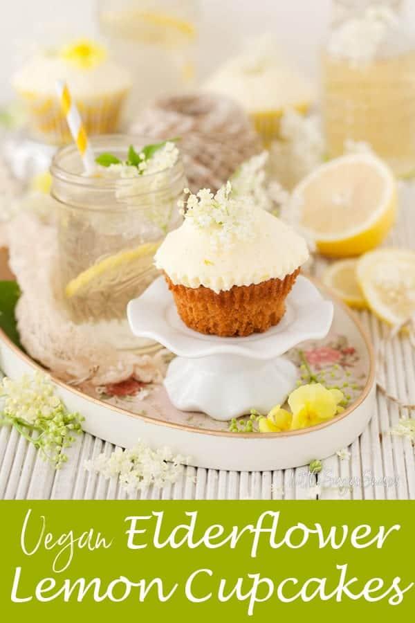 Vegan Lemon Elderflower Cupcakes #vegancupcakes #veganlemoncupcakes #veganelderflowercupcakes #veganlemonelderflowercupcakes #lemonelderflowercupcakes #lemonelderflowercake