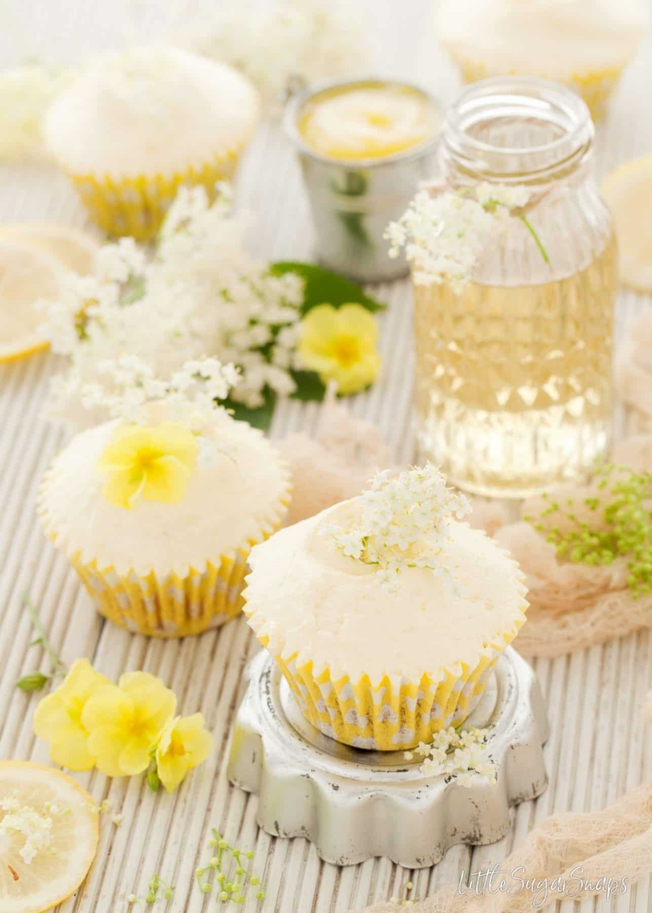 Vegan Lemon Elderflower Cupcakes
