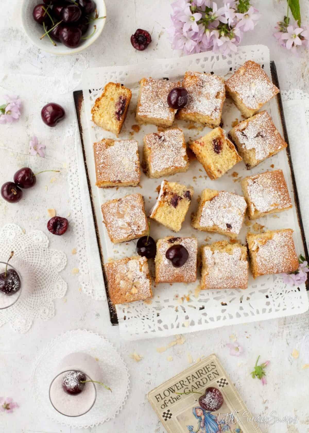 Gluten Free Cherry Almond Traybake