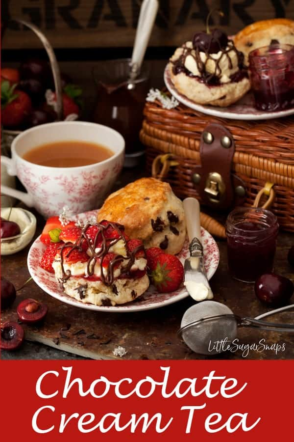 Chocolate Cream Tea #chocolatecreamtea #creamtea #clottedcream #afternoontea #chocolatescones