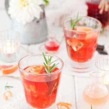 Grapefruit Negroni with Rosemary