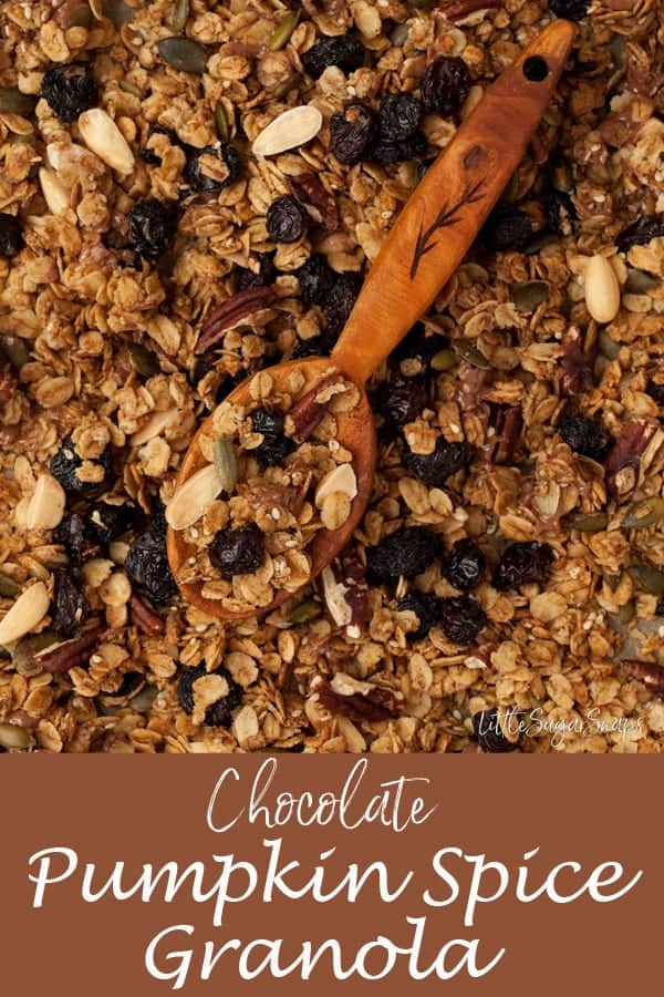 Chocolate Pumpkin Spice Granola #pumpkinspicegranola #chocolategranola #chocolatepumpkinspicegranola #pumpkinspicerecipe #pumpkinspice #chocolatepumpkinspice