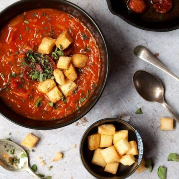 Hearty Paprika Soup with Carrot and Zucchini