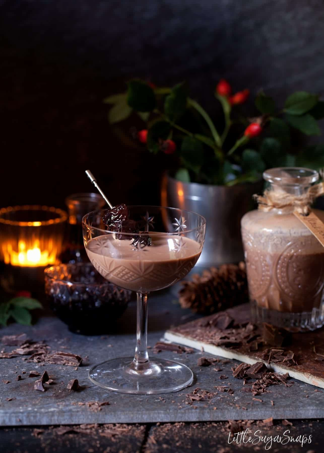 Alcoholic Chocolate cream drink