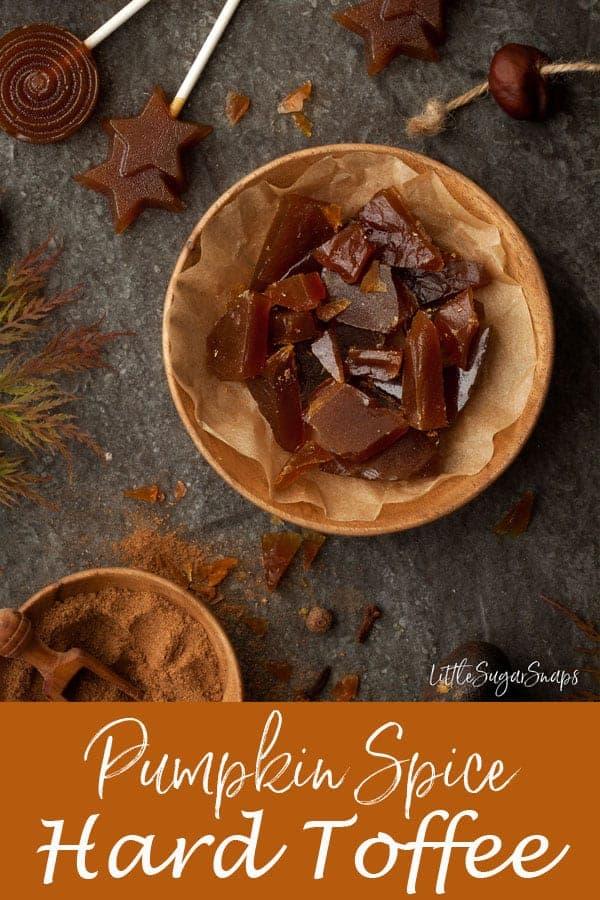 Pumpkin Spice Toffee #hardtoffee #englishtoffee #pumpkinspicetoffee #pumpkinspice #pumpkinspicecaramel #lollipop #toffeelollipop #caramellollipop
