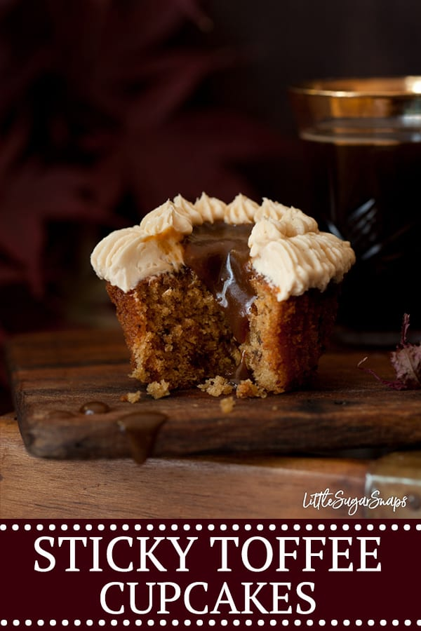 STICKY TOFFEE CUPCAKES - image for pinterest