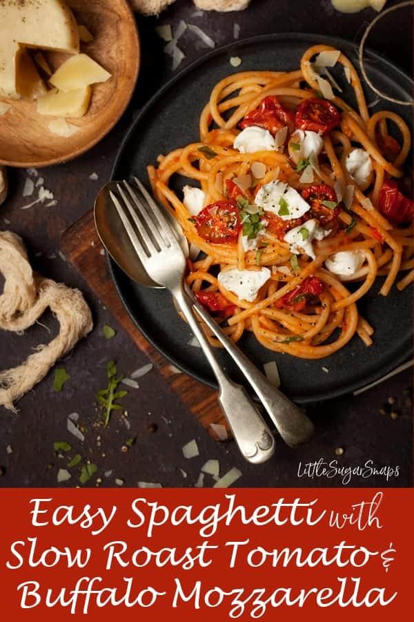 Easy Slow Roast Tomato Pasta #easypasta #easytomatopasta #easyslowroasttomatopasta
