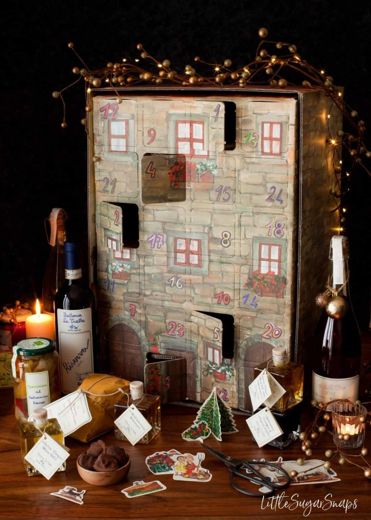Italian food and drink advent calender from Fattoria La Vialla