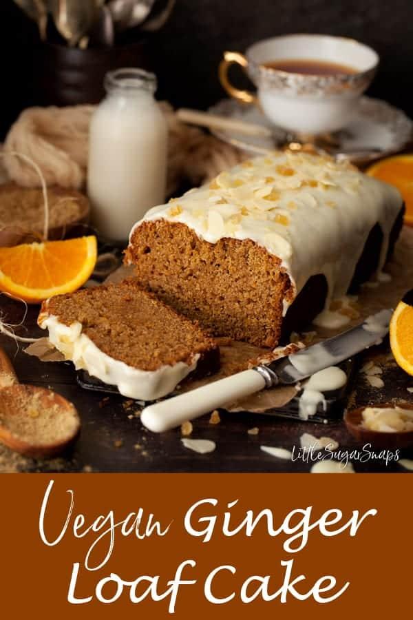 Vegan Ginger Loaf Cake #vegancake #veganbake #veganloafcake #vegangingercake #vegangingerloafcake #gingerloafcake #gingercake