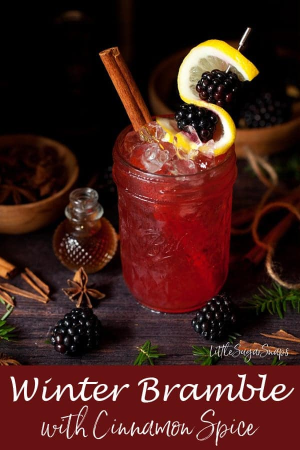 Winter Bramble Cocktail with Cinnamon Spice ##bramblecocktail #gin #cinnamonspice #cinnamoncocktail