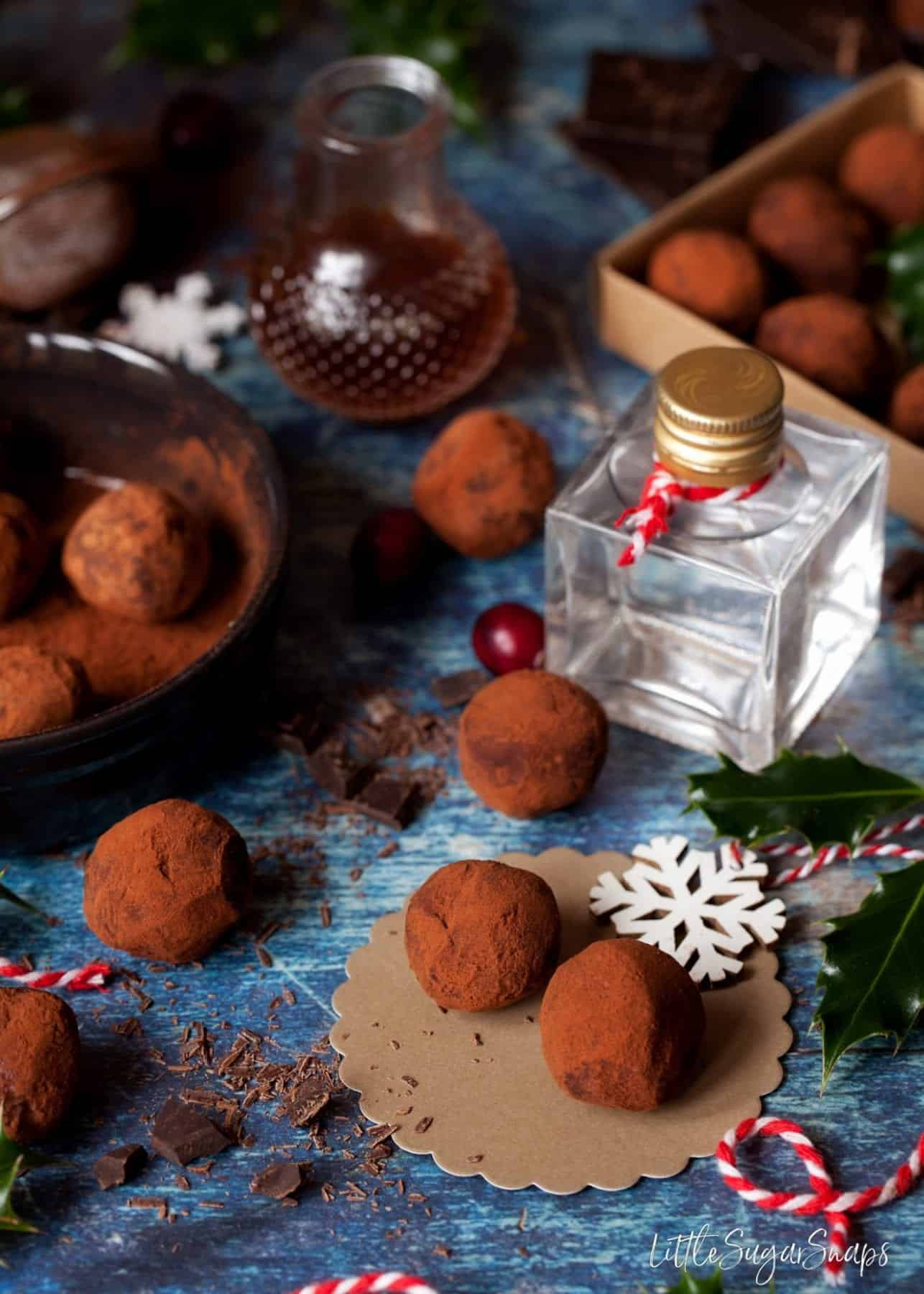 Gin and Tonic Truffles