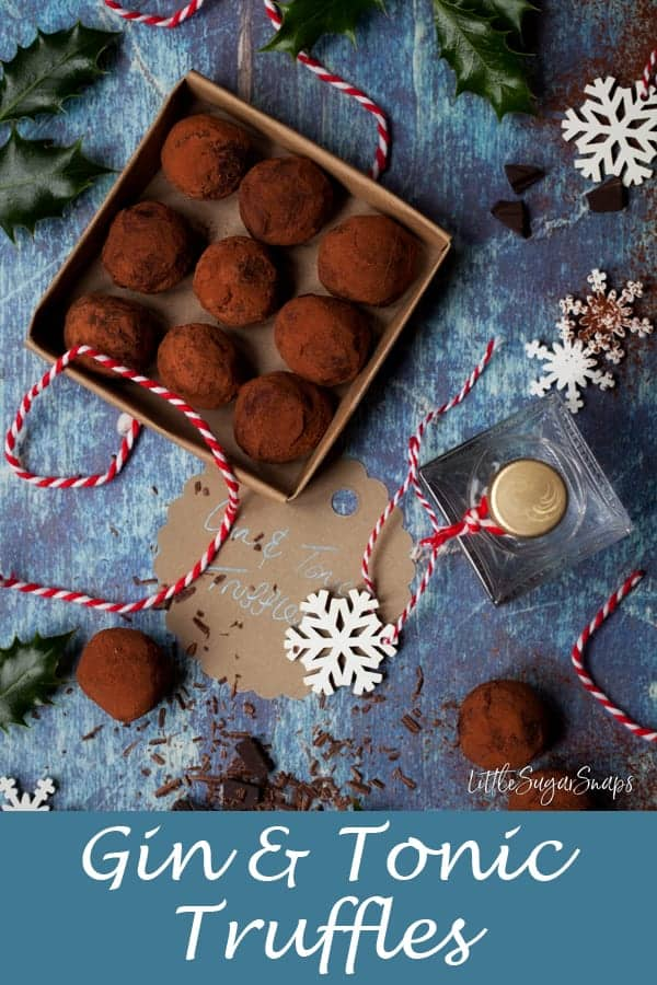 Gin and Tonic Truffles #gintruffles #ginandtonictruffles #chocolatetruffles #boozytruffles #cocktailtruffles #gintonictruffles