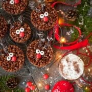 Rudolph Chocolate Rice Krispie Treats