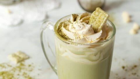Coconut Matcha White Hot Chocolate
