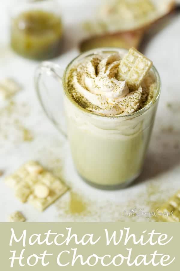 Matcha White Hot Chocolate #matcha #matcahhotchocolate #matchawhitehotchocolate #matchatea #matchadrink #matchawhitechocolate