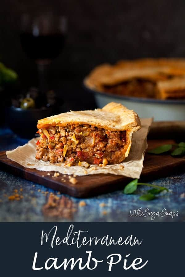Mediterranean Lamb Pie #pie #meatpie #lambpie #pastrypie #mediterraneanlamb