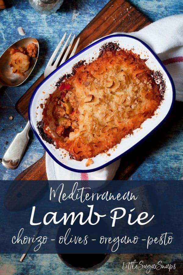 Mediterranean Lamb Pie #pie #meatpie #lambpie #potatopie #mediterraneanlamb