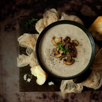 Mushroom thyme Blue Cheese Soup