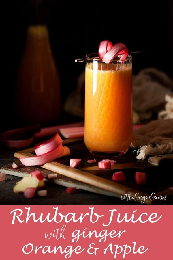 Rhubarb Juice with Ginger, Orange & Apple #rhubarbjuice #forcedrhubarb #rhubarbginger #rhubarbandginger #rhubarbapple #rhubarbandapple #rhubarborange #rhubarbandorange #rhubarb