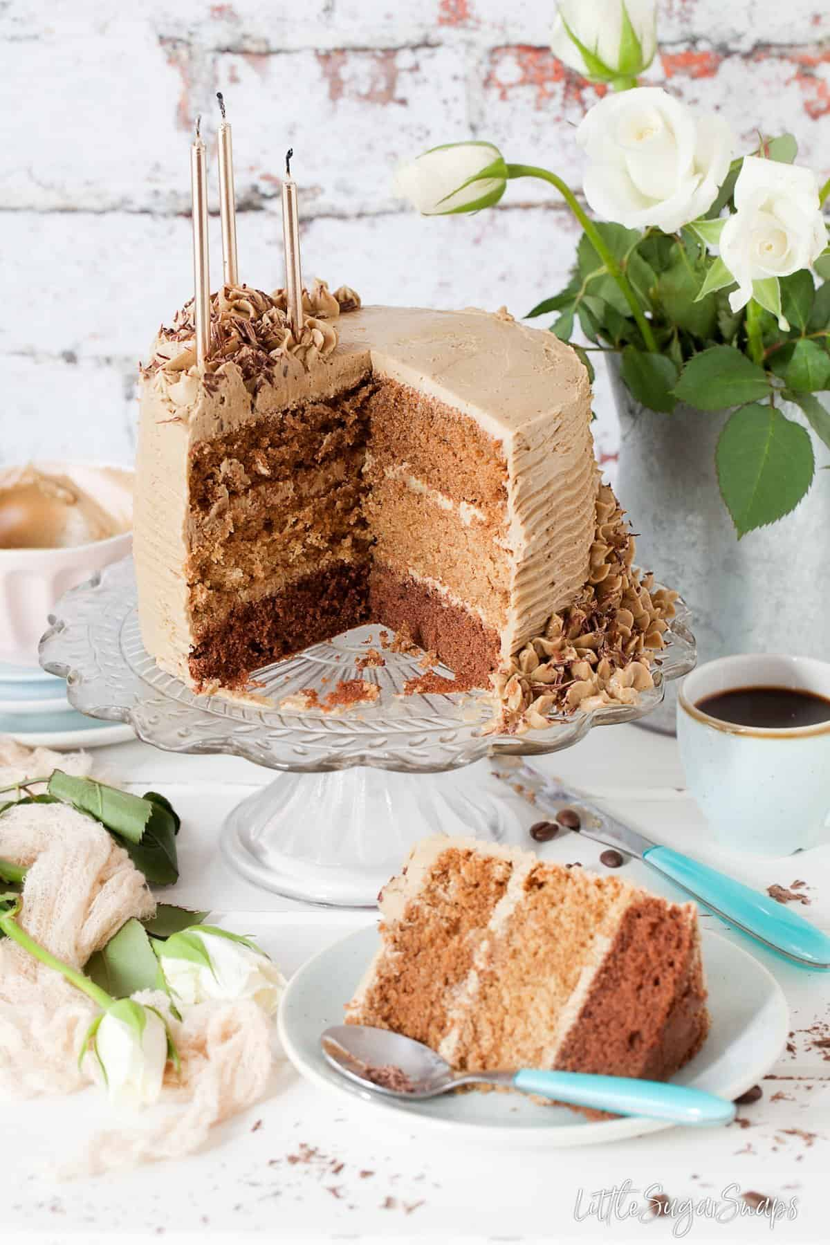 Triple Layer Coffee Cake & a Berg Innovations Stand Mixer Review