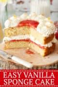 EASY VANILLA SPONGE CAKE - Pinterest image