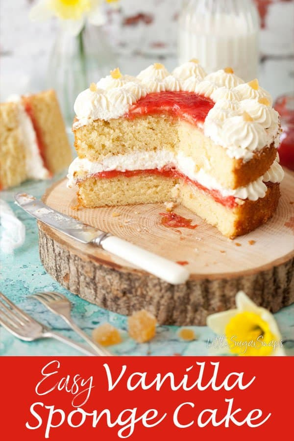 Easy Vanilla Sponge Cake #easyspongecake #easyvanillacake #easyvanillasponge #easyvanillaspongecake #vanillasponge #vanillacake