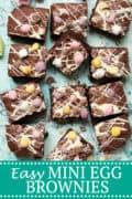 Easy Mini Egg Brownies PINterest image