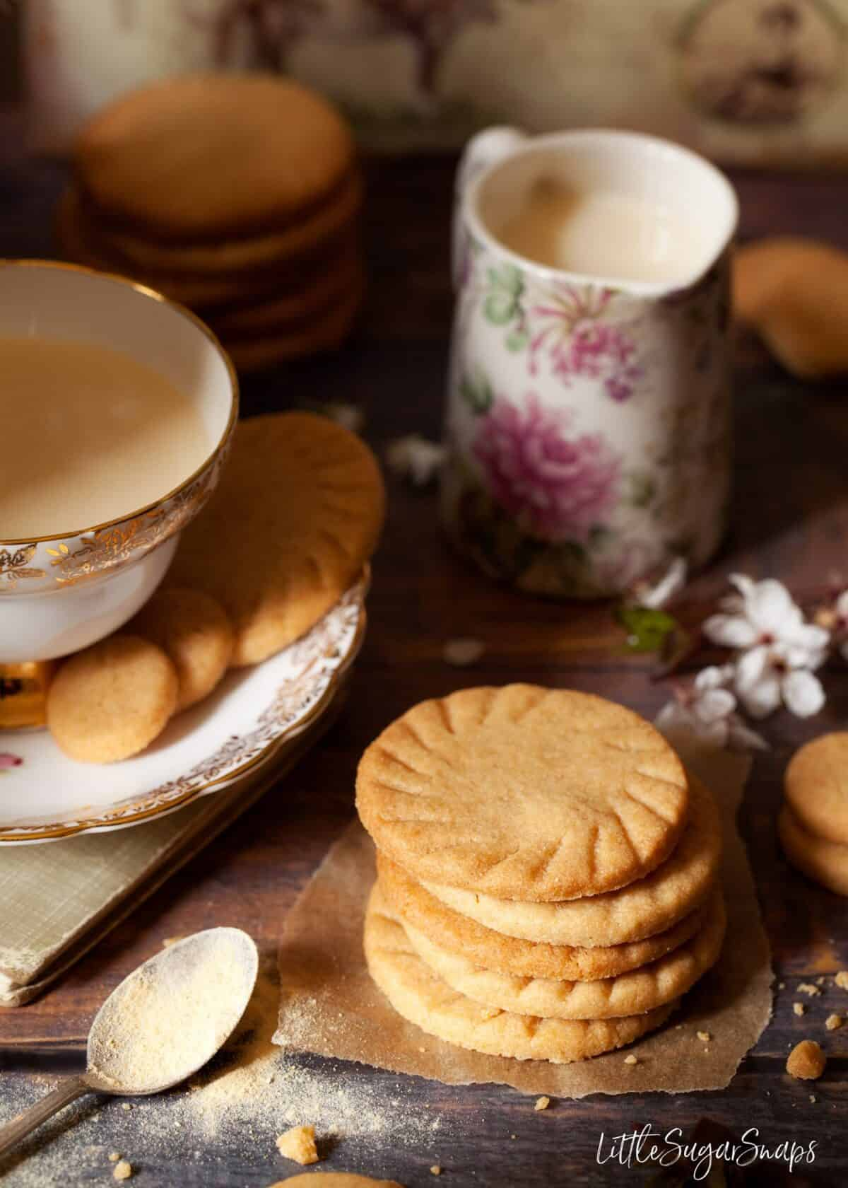 Malted Milk Biscuits with a cup of tea.