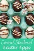 Homemade Caramel Shortbread Easter Eggs