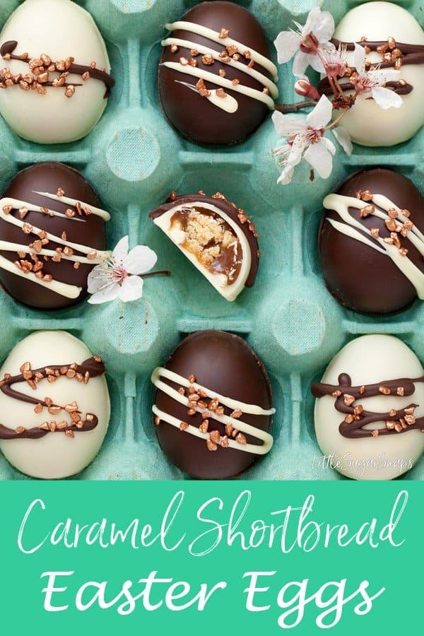 Caramel Shortbread Easter Eggs #carameleggs #carameleastereggs #caramelshortbread #millionairescaramel #millionairescaramelshortbread #millionairesshortbreadeggs #caramelchocolate #caramelchocolateggs #millionairesshortbread