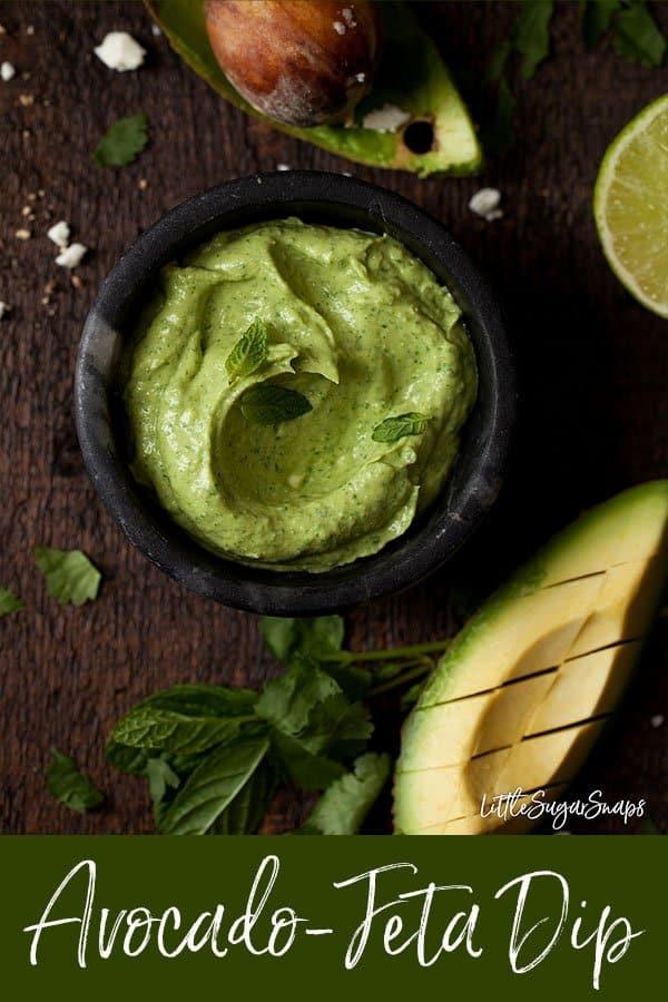 Avocado & Feta Dip #avocado #avocadodip #fetadip #avocadofeta