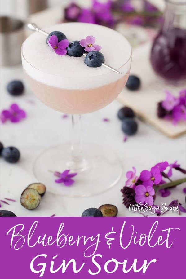 Violet Blueberry Gin Sour #blueberryginsour #ginsour #blueberryviolet #violetcocktail #blueberrycocktail #violetginsour #blueberryvioletginsour #violetblueberryginsour