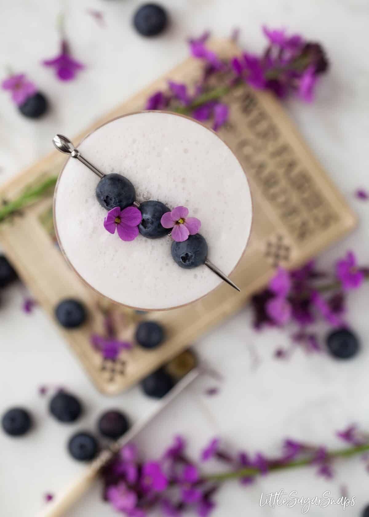 Violet Blueberry Gin Sou