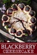 BLACKBERRY CHEESECAKE - image for pinterest use