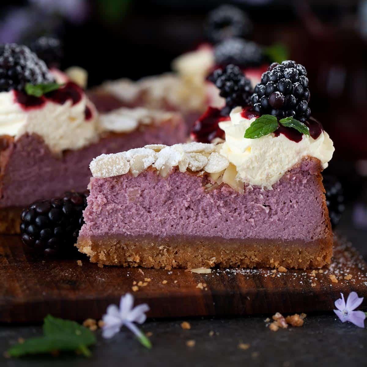 Blackberry Feta Cheesecake